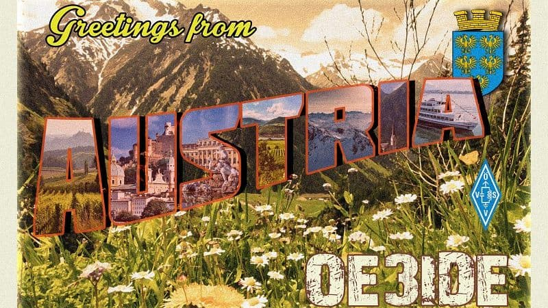 OE3IDE Vintage QSL Card