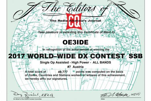 CQ WW DX Contest SSB 2017