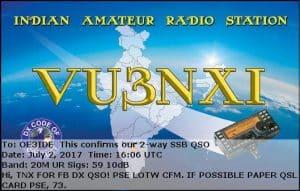 VU3NXI, India