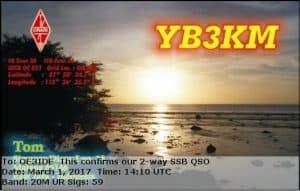YB3KM, Indonesia