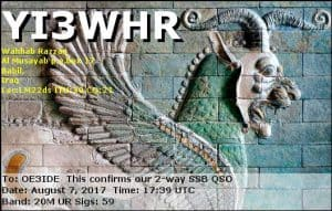 YI3WHR, Iraq